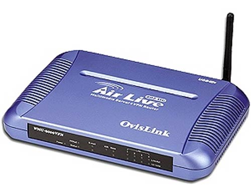 OvisLink WMU-9000VPN, 802.11g AP, 4-port VPN router, QoS, 4xUSB